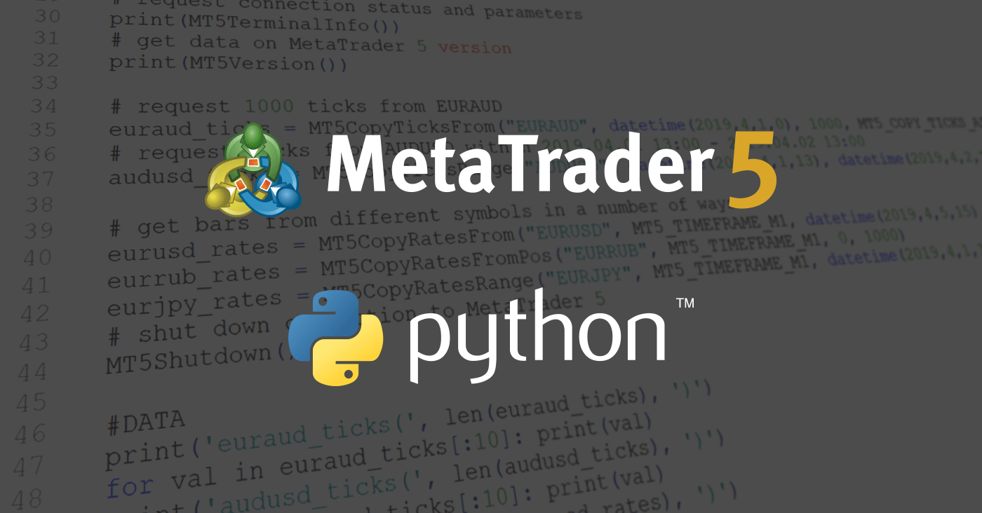 MetaTrader 5 integration with Python