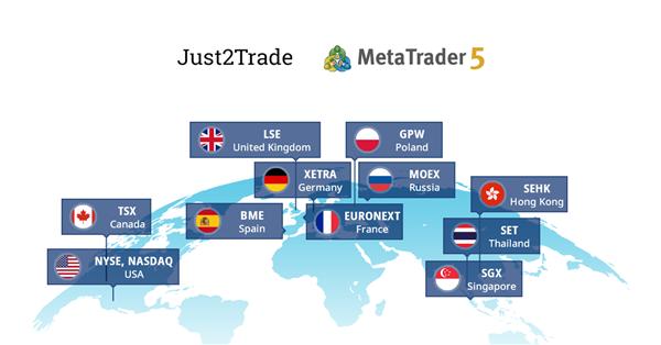 Just2Trade представил новый тип единого счета MetaTrader 5 Global для  торговли на биржах NYSE, NASDAQ, LSE, Euronext, Xetra - Новости -  MetaQuotes Software Corp.