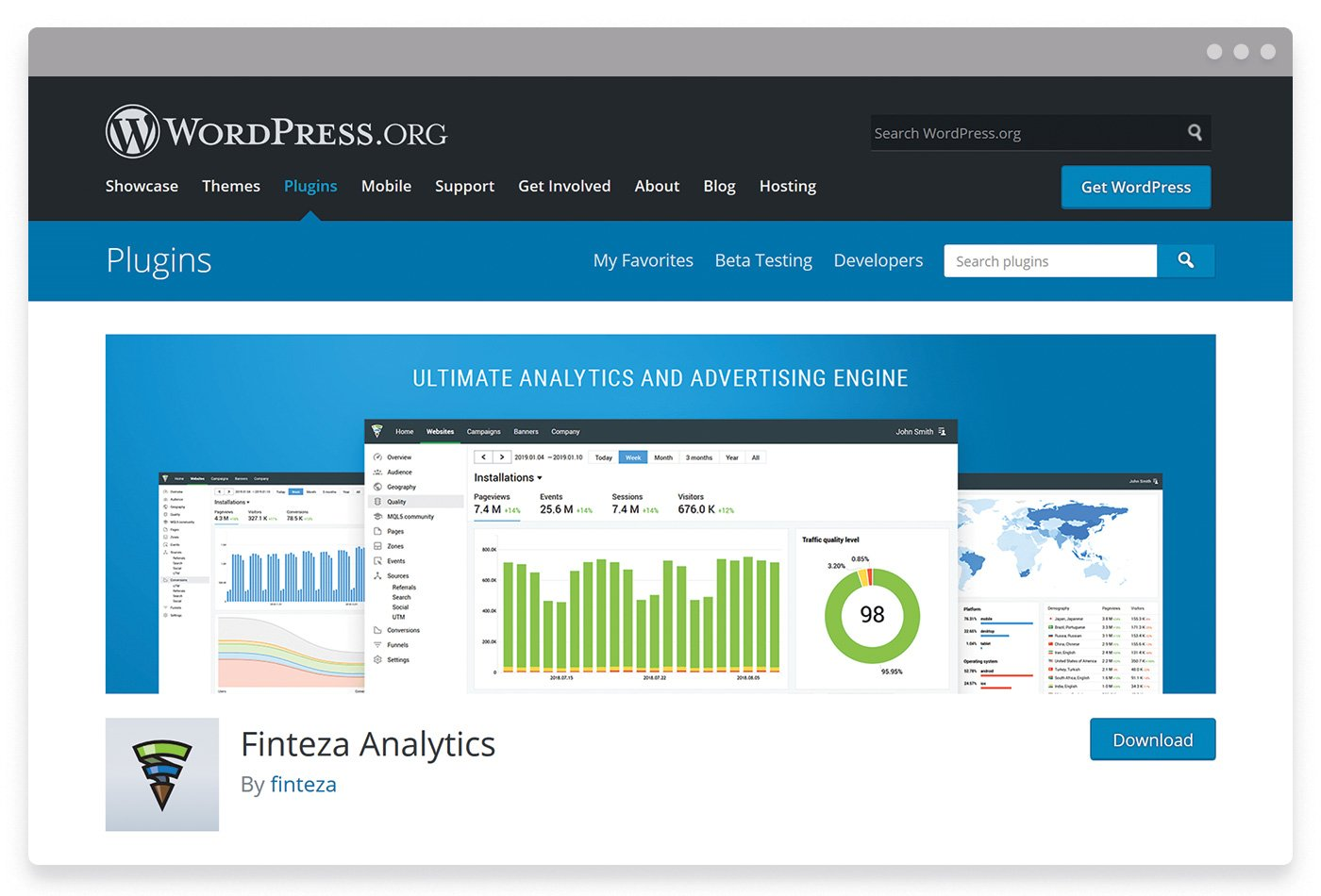 The official plugin for integrating Finteza web analytics with WordPress websites