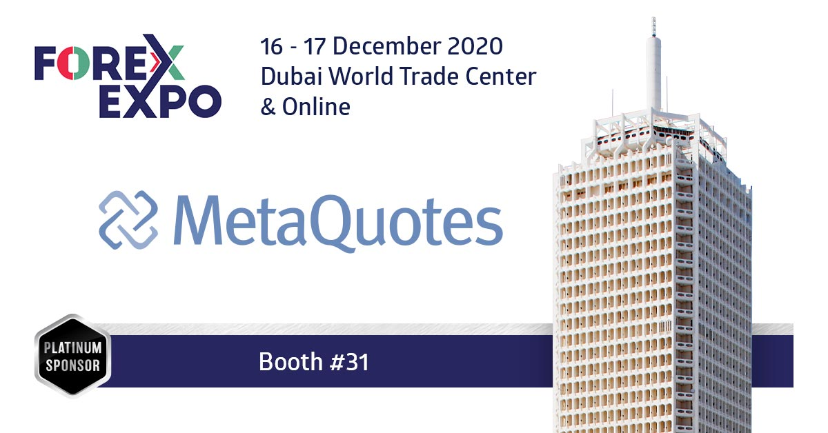 MetaQuotes Software is a Platinum Sponsor of The Forex Expo Dubai 2020
