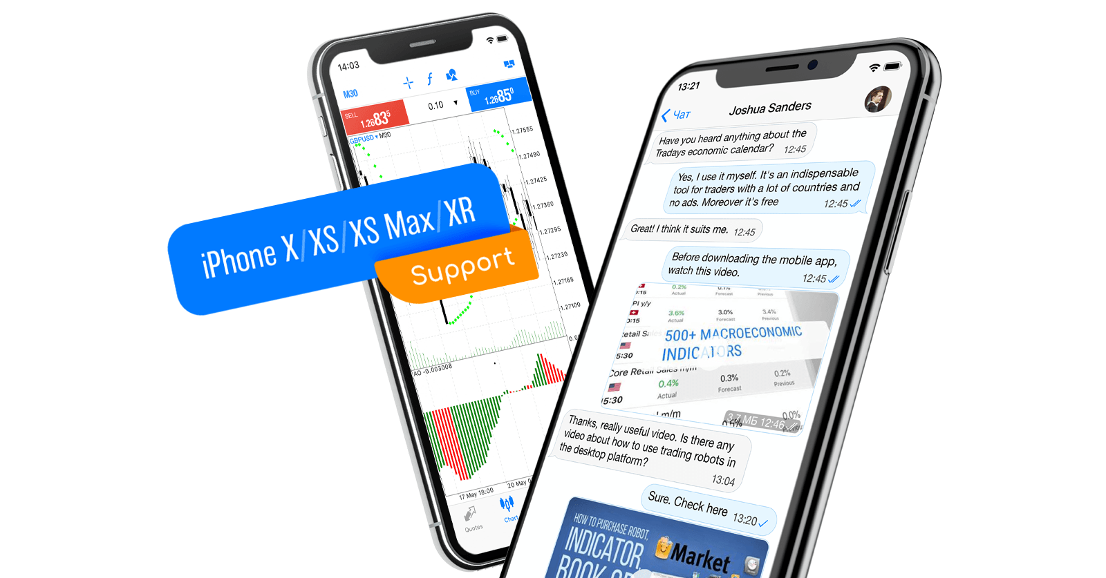Native support for iPhone X/XS/XS Max/XR in MetaTrader 5 iOS