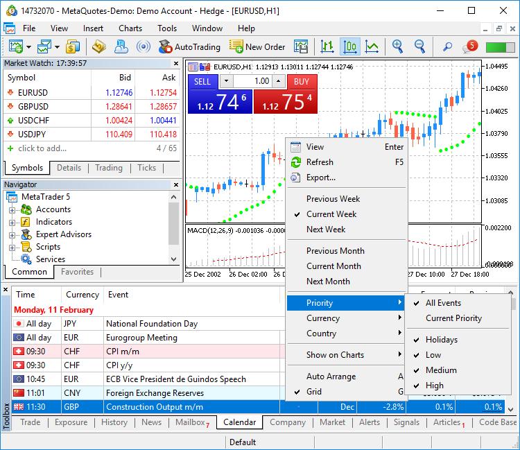 MetaTrader 5 Platform build 2005: Economic Calendar, MQL5