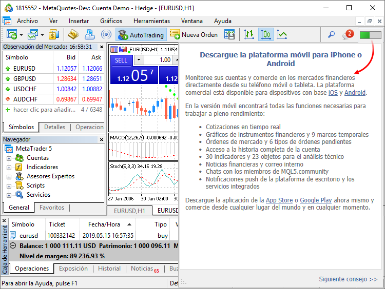 What's new in MetaTrader 5