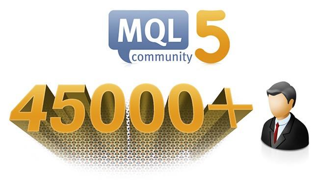 MQL5.com Hits 45 000 Users in November!
