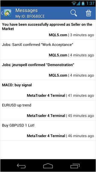 Forex news push notifications
