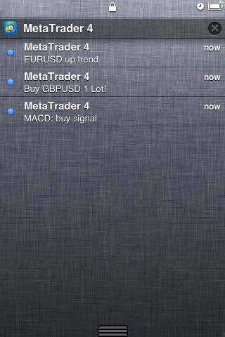 Push notifications in MetaTrader 4 iPhone