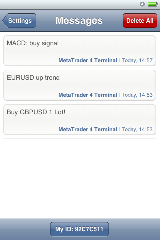 Push notifications in MetaTrader 4 iPhone
