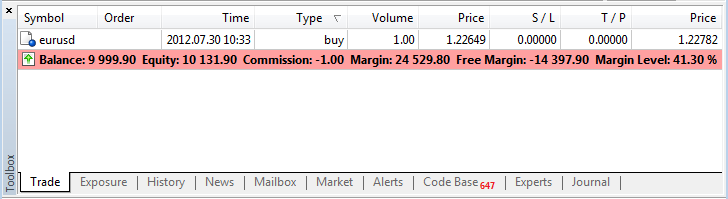 In forex what margin and margin level