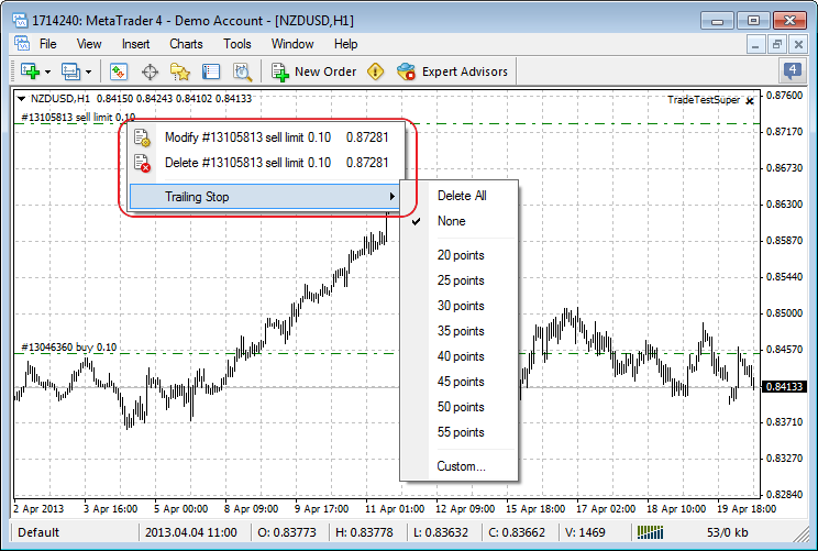 Added ability to drag and drop trading levels of orders and positions