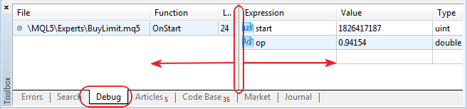 Added ability to change window size in the debugger