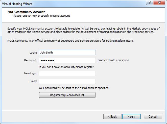 MetaTrader 4 Trading Terminal Build 670: Virtual Hosting, Web