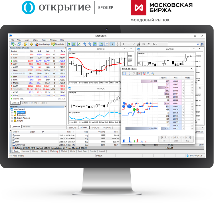 Otkritie Broker launches MetaTrader 5 on the Equity and Bond Market