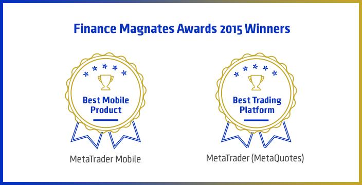 2015金融巨头伦敦峰会大奖:MetaTrader 交易平台荣获最佳交易平台以及最佳移动产品称号