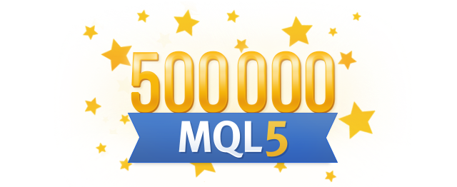 500 000 Users Joined MQL5.community!