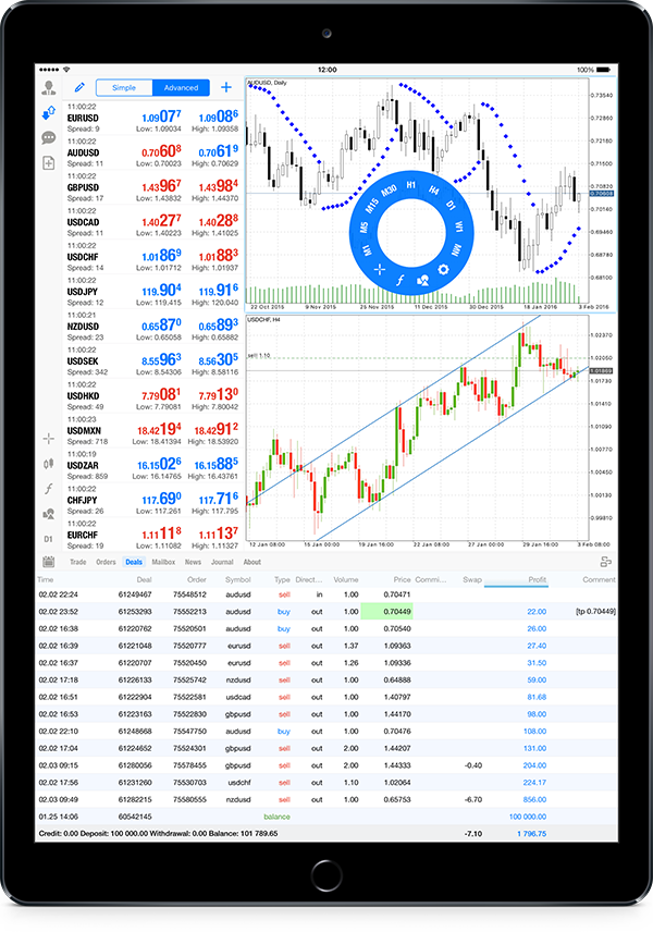 MetaTrader 5 iOS build 1225 supports iPad Pro and features the portrait mode on iPad