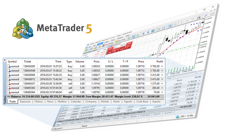 Updated MetaTrader 5 trading platform with the hedging system for position accounting